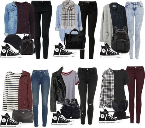 5SOS Styles: Black Hi Tops by fivesecondsofinspiration featuring a black bag