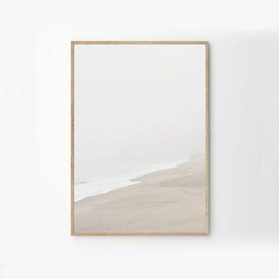 Beige-Strand Meer Natur Fotografie Kunst & von honeymoonhotel