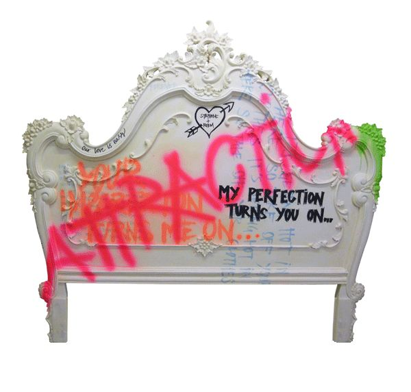 HEADBOARD.   (my perfection turns you on...)