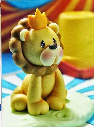 Eu Amo Artesanato: Leão de biscuit