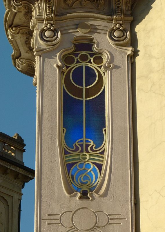 Art Nouveau. Liberty window a Torino