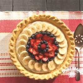 Fresh Fruit Cream Cheese Pie from Eagle Brand®     I used bananas only.  It's like banana pudding pie.  Soooo easy and quick.  LG