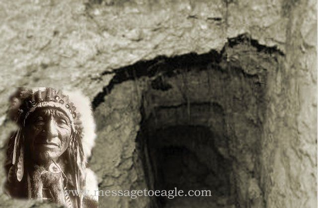 Ancient Sioux Story about a global network of Underground Caves - and the inhabitants of the underworld who gave him a talisman, a mysterious piece of iron which had the ability to emit unusual light capable to melt rocks, cut the trees and change sand into….stone.