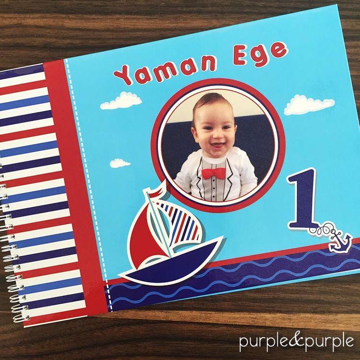 Denizci Temalı Anı defteri | Denizci Temalı Doğum Günü Süsleri | nautical birthday party | Boys First Birthday