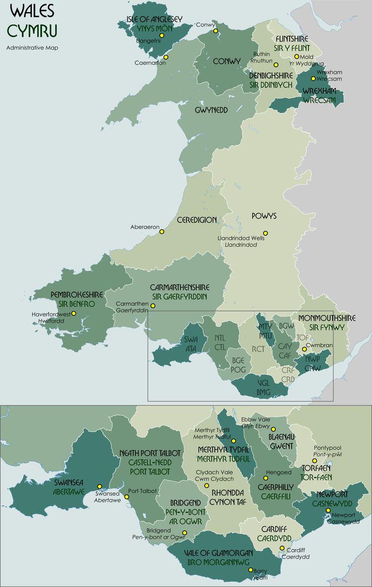25 melhores ideias de Map of wales uk no Pinterest  mapa de
