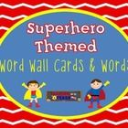 "These word wall headers would be the perfect addition to your superhero themed classroom!   Each card is approximately 3.5"" x 4.75"" and features co..."