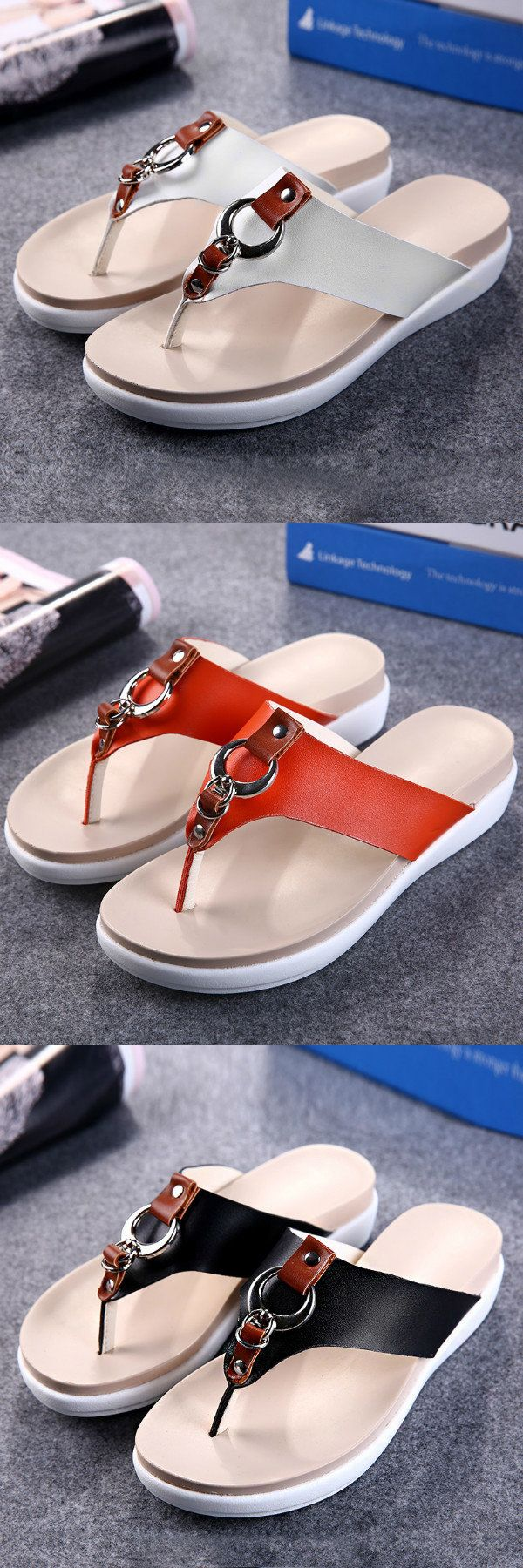 US$19.77 Casual Beach Slippers_Summer Women Sandals_Flats Sandals