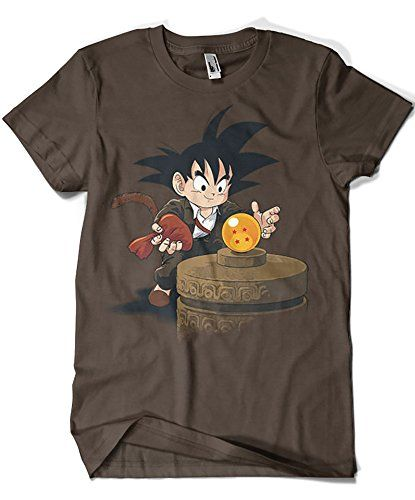 3100-Camiseta Raiders of the Lost balls (Dragon ball goku indiana jones) (Inaco) #camiseta #starwars #marvel #gift