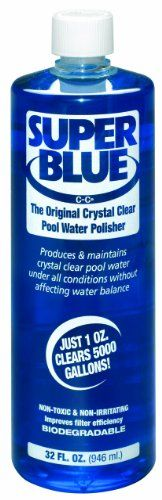 Robarb 20154A Super Blue Swimming Pool Clarifier, 32 Ounce Robarb 20154A Super Blue Swimming Pool Clarifier, 32 Ounce Powerful water clarifier produces and maintains crystal clear pool water without affecting pH balance or other chemicals. Its thick, highly concentrated formulation is designed to clear cloudy water FAST. http://www.thelawngarden.com/robarb-20154a-super-blue-swimming-pool-clarifier-32-ounce/