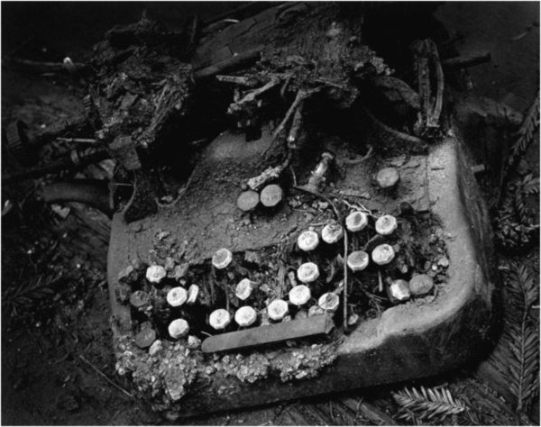 Wynn Bullock. Old Typewriter 1951.  Wynn Bullock was an American master of photography.  He experimented widely with processes such as solarisation and worked commercially, creatively and later as a teacher, covering many different genres.