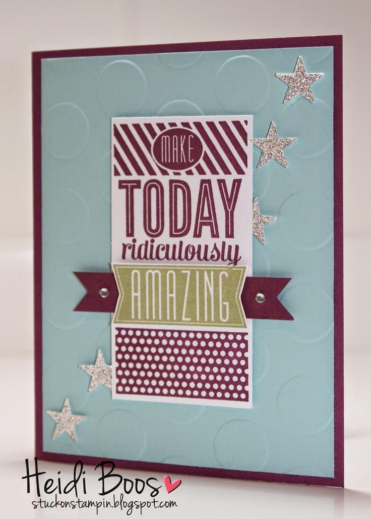 the creation station blog hop - amazing birthday (Heidi Boos, Stampin' Up!, Stuck on Stampin', birthday cards)