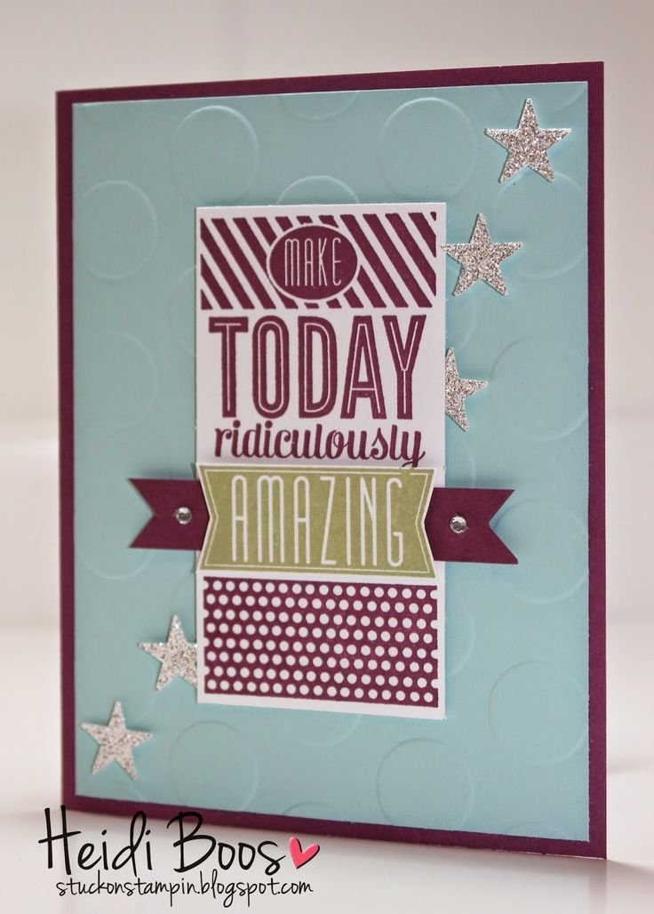 the creation station blog hop - amazing birthday (Heidi Boos, Stampin' Up!, Stuck on Stampin', birthday cards)