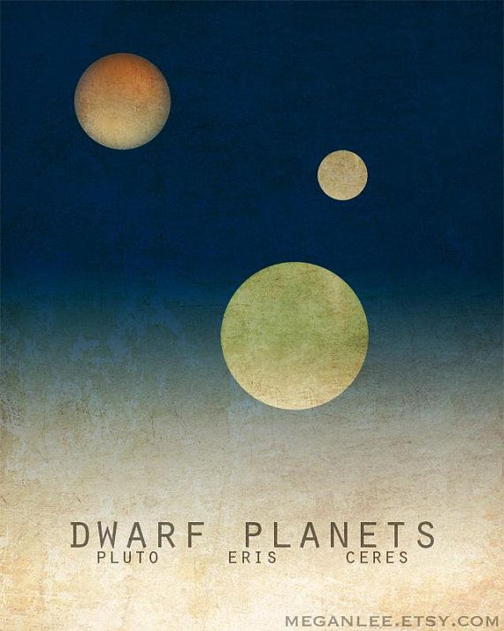 Pluto Planet Print Astronomy Gift Dwarf Planets Solar Etsy In 2020 Pluto Planet Dwarf Planet Pluto Dwarf Planet
