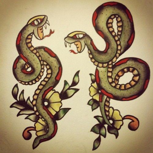 Old school snake | TRADITIONAL TATTOOS | Pinterest ...