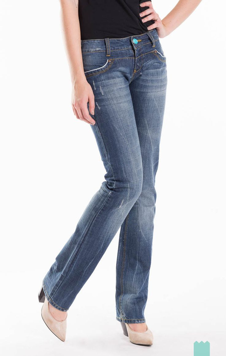Desigual Size XS Women's 06P2659 Distressed Style Faded Effect Worn Look  Regular Fit Jeans - From