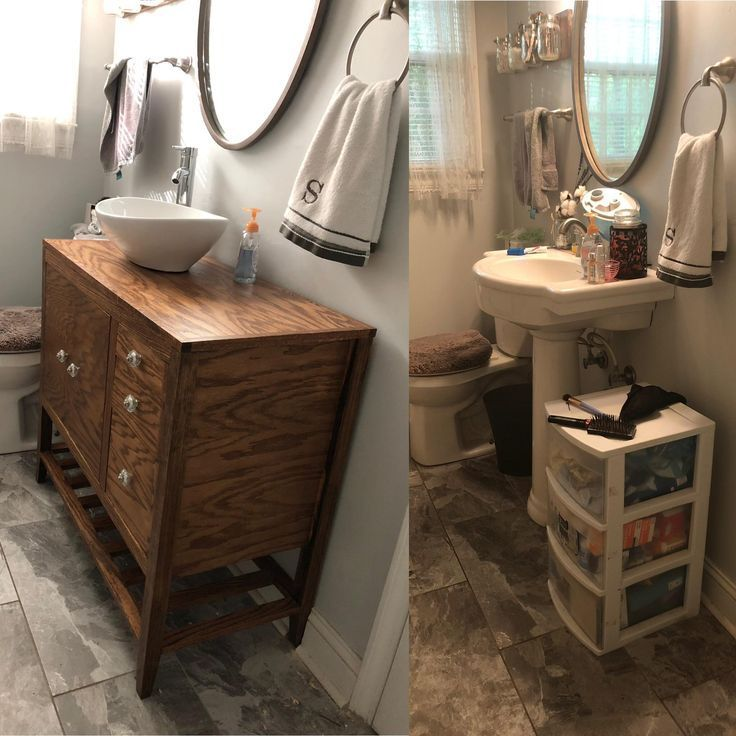 Pinned To Do It Yourself On Pinterest Vanity Pedestal Sink