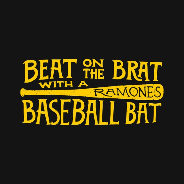 Beat on the brat with a baseball bat - Art Print by Daniel Feldt