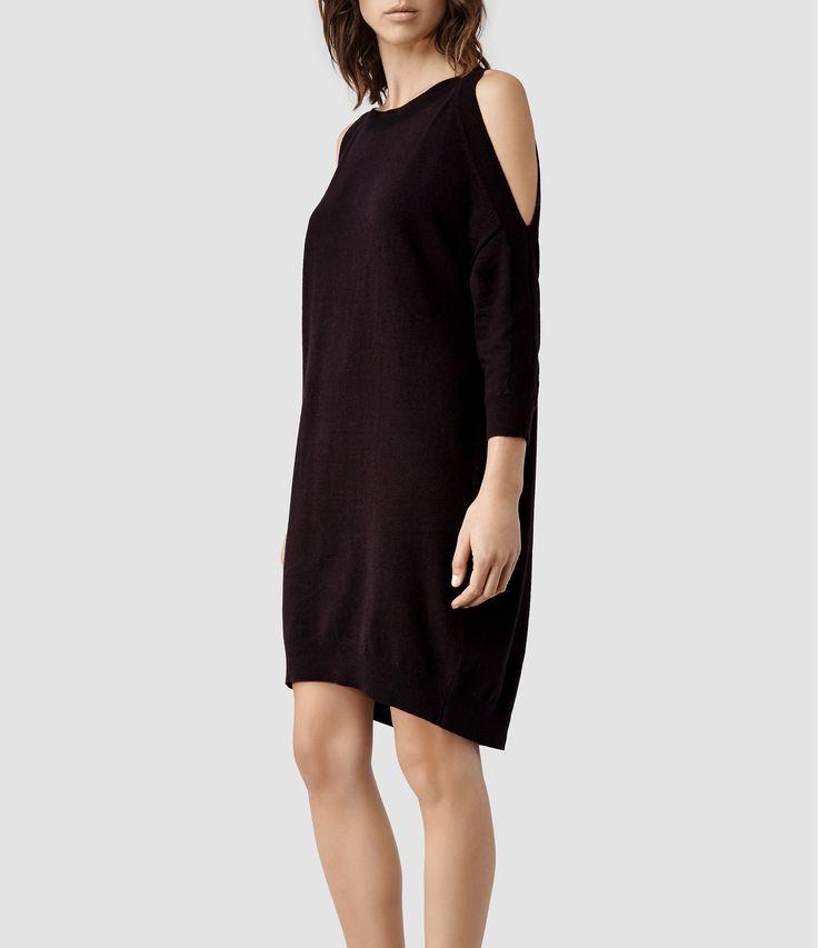 Womens Eleze Jumper Dress (LIQUORICE) | ALLSAINTS.com