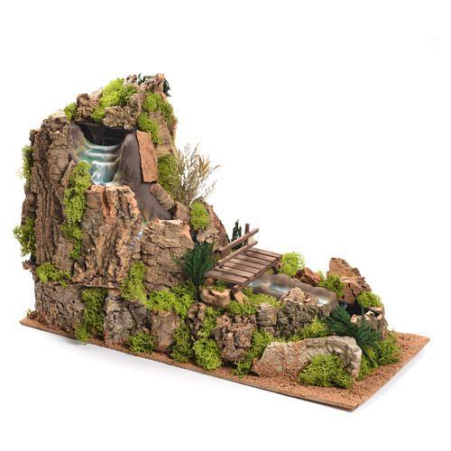 Cascata con fiume presepe 35x25x54 cm | vendita online su HOLYART