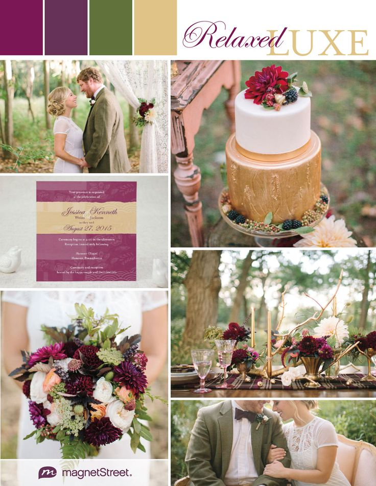 chic, regal and rustic wedding ideas in purple, green and gold--lovely for a summer or fall event. change the green with a blue....