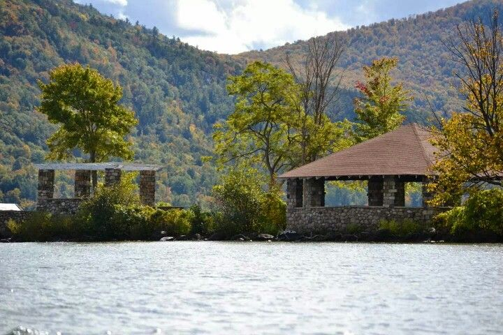 The beautiful Silver bay, Lake George