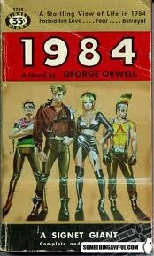 1984.....a classic novel that has shades of today's reality. Too close for comfort. Beware!