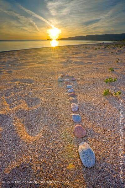 Agawa Bay Beach at Sunset, Lake Superior Provincial Park, Ontario, Canada