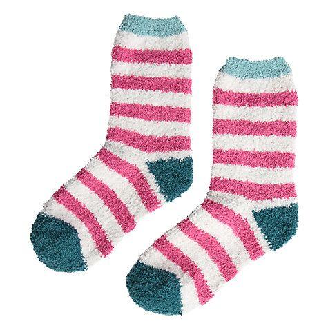 Buy Seasalt Fluffy Ankle Socks, Pink/Blue Online at johnlewis.com