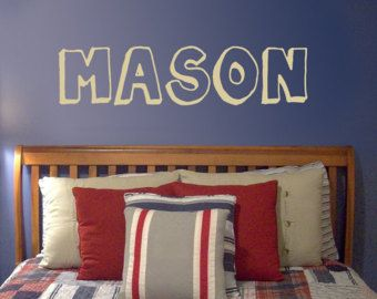 Custom Name Wall Decal, Personalized Name for Nursery, Comic Book Decal, headboard name, boy girl child 5
