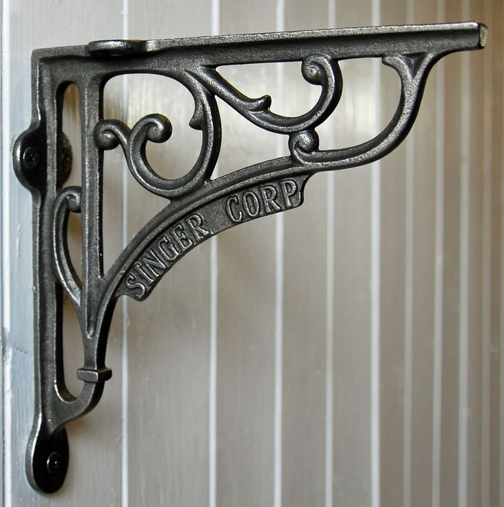 Cast iron vintage singer corp shelf bracket