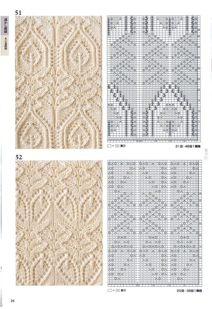Изучаем красивые ажурные схемы вязания на спицах из мохера