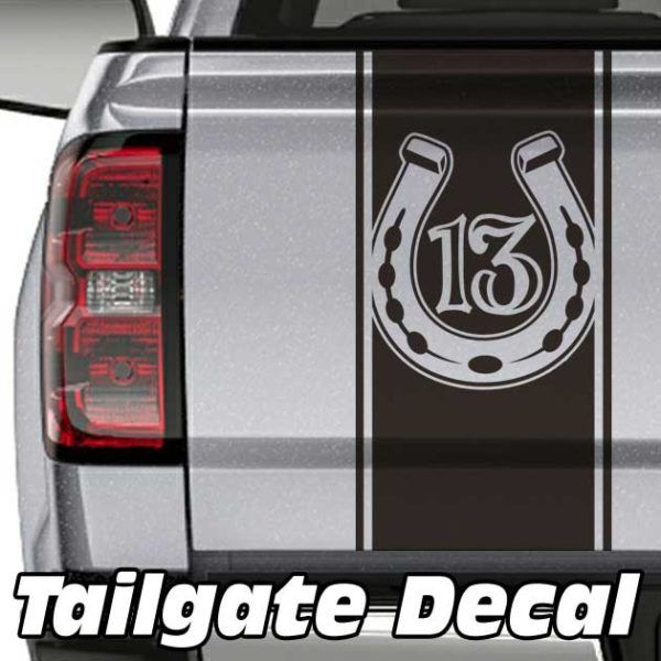 Lucky 13 Truck Tailgate Decal