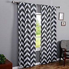 The Big Bold Chevron Curtain Is The Perfect Crochet Curtain Pattern For The  Bath, Bedroom