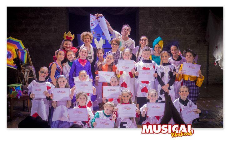 Dopo lo spettacolo, la premiazione. #Musical #MusicalWeekend #kids #Aliceinwonderland #Alice