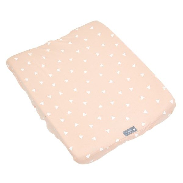 Peach or Rose with Triangles | 100% cotton knit fabric | Fits standard size change mat size of 56 x 46 x 12 cm (length x width x height)