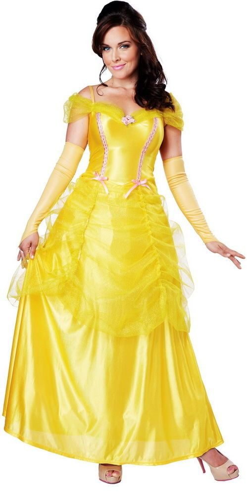 Classic Beauty Storybook Princess Belle Halloween Costume Outfit Adult Women #CaliforniaCostumeCollection