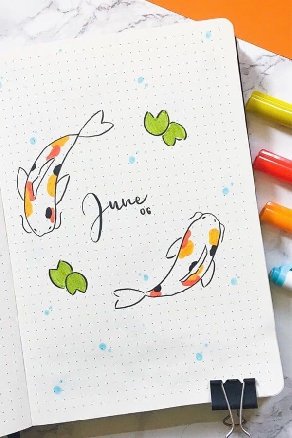 Starting off a new month in your bullet journal and need some ideas?! These adorable June montly cover page examples will give you the inspiration you need!