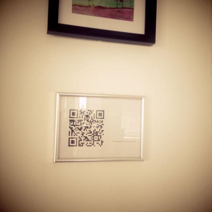 A friend made this QR Code for WIFI. Brilliant idea. - Imgur