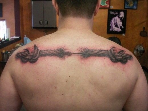 Rope Tattoo: Hanging by a Thread