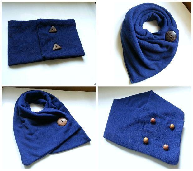 DIY Neck Warmers (Button Tricks!)
