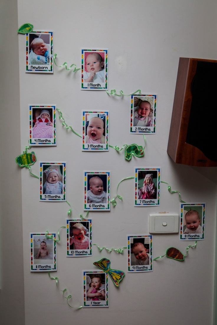 12 month photo wall.