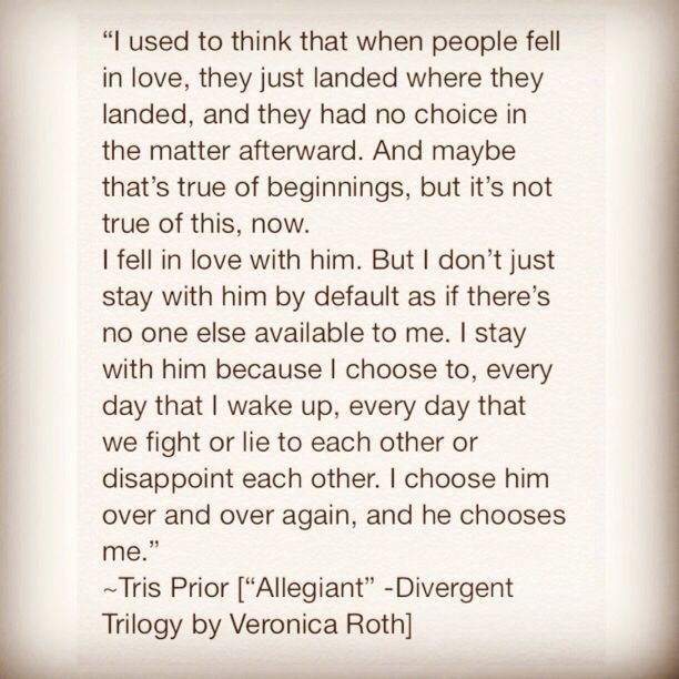 This quote from #Divergent is so lovely | Divergent Quotes Tobias Tris & tobias! #bookbloggers #bookquote #booklove