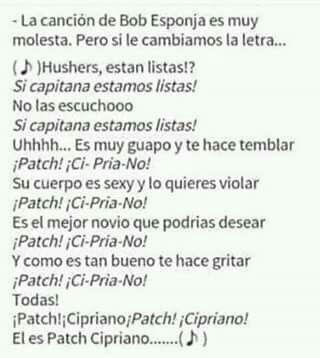 ¡Patch! ¡Ci-pria-no! ❤