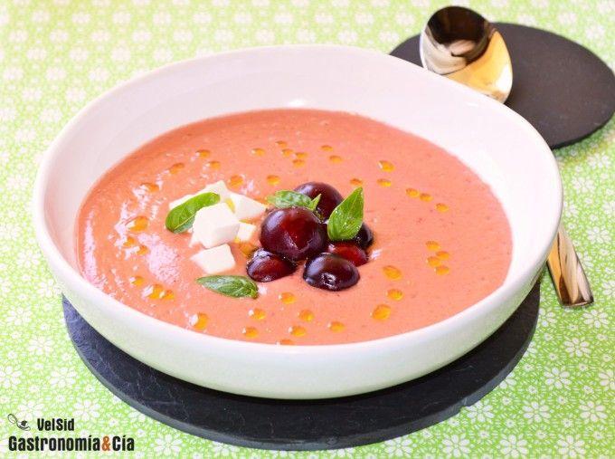 Gazpacho de cerezas - Gastronomía y Cía.