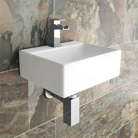 Cubetto Wall Hung Small Cloakroom Basin 1TH - 330 x 290mm
