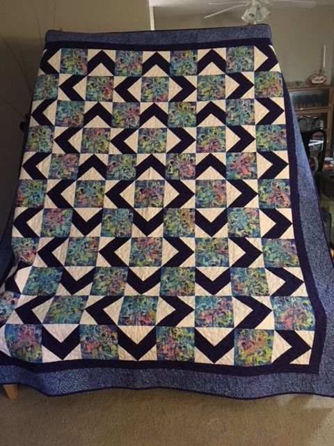 """Engagement quilt for Gabi - """"Tropical Dreaming"""" - queen size"""