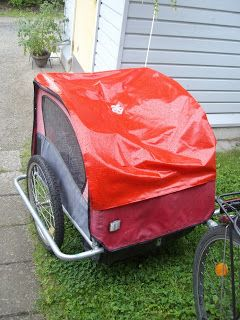 My bike wagon's cover got broken so I sewed a new one!