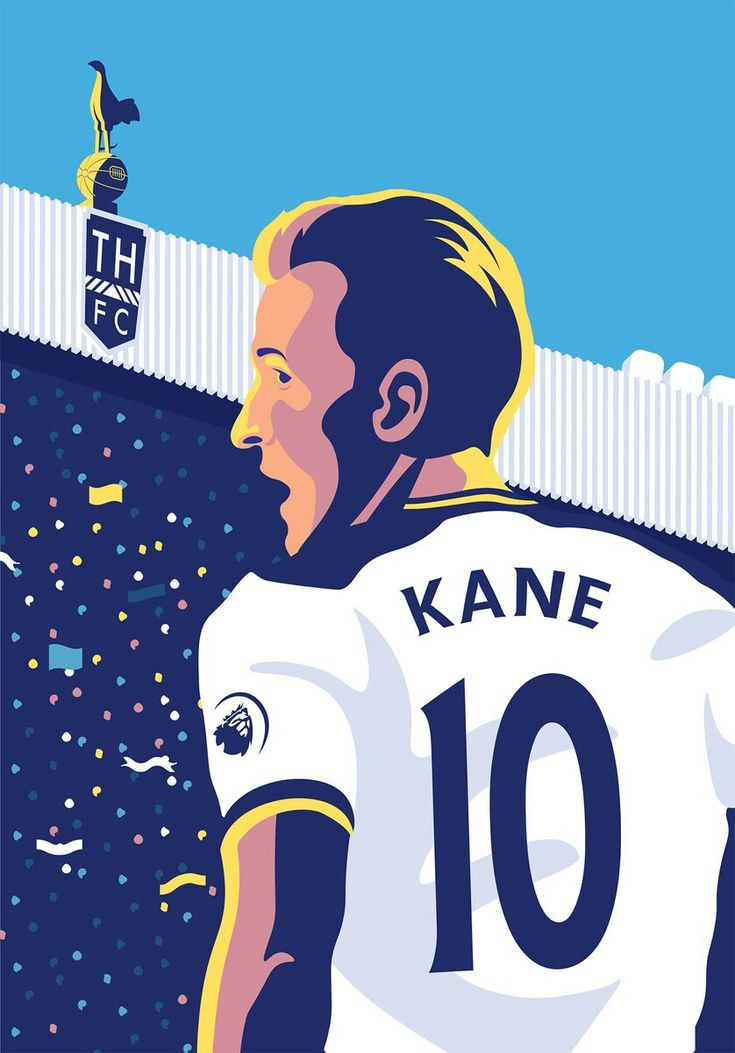Art of Harry Kane by tottenhan Hotspur @spursofficial