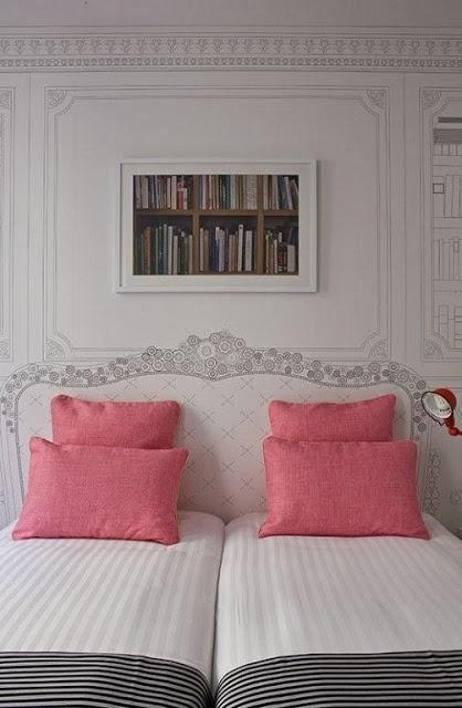 CABECERAS PINTADAS - PAINTED HEADBOARD by dormitorios.blogspot.com CABECEROS PINTADOS