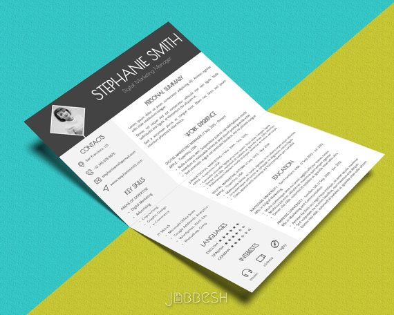 Business card template word 25 resume cover letter business card modern cv template word powerpoint format yelopaper Gallery